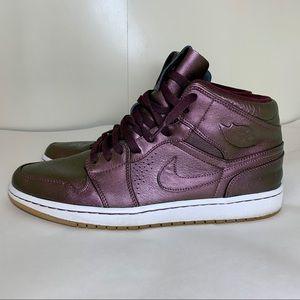 Nike Air Jordan 1's Metallic Burgundy Size 13